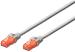 DIGITUS CAT 6e U-UTP patch cable, PVC AWG 26/7, length 3 m, color grey