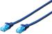 DIGITUS CAT 5e U-UTP patch cable, PVC AWG 26/7, length 10 m, color blue