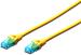 DIGITUS CAT 5e U-UTP patch cable, PVC AWG 26/7, length 10 m, color yellow