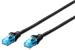 DIGITUS CAT 5e U-UTP patch cable, PVC AWG 26/7, length 2 m, color black