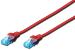 DIGITUS CAT 5e U-UTP patch cable, PVC AWG 26/7, length 1 m, color red