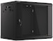 "Lanberg :: Rack Cabinet 19"" Wall-Mount 9U/600X450 (flat-pack) V2 Black, Glass door"