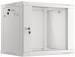 "Lanberg :: Rack Cabinet 19"" Wall-Mount 9U/600X450 (flat-pack) V2 Grey, Glass door"