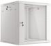 "Lanberg :: Rack Cabinet 19"" Wall-Mount 12U/600X600 (flat-pack) V2 Grey, Glass door"