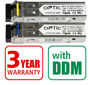 OPTIC SFP pair (2pcs) 1.25Gbps, LC SM, 3km, WDM (OPTIC-SFP-S1203-L3302-LC and OPTIC-SFP-S1205-L3302-LC) with DDM